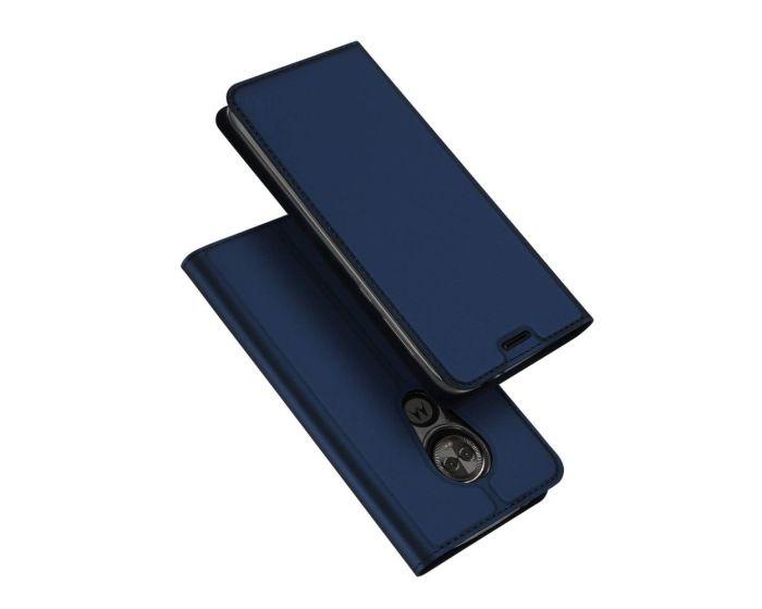 DUX DUCIS SkinPro Wallet Case Θήκη Πορτοφόλι με Δυνατότητα Stand - Navy Blue (Motorola Moto E5 Play)