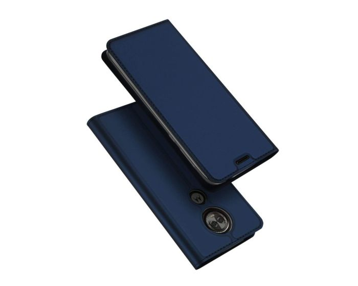 DUX DUCIS SkinPro Wallet Case Θήκη Πορτοφόλι με Δυνατότητα Stand - Navy Blue (Motorola Moto E5 Plus)