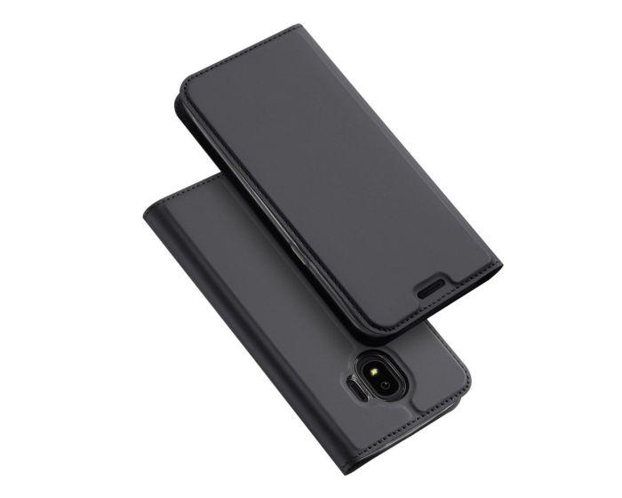 DUX DUCIS SkinPro Wallet Case Θήκη Πορτοφόλι με Δυνατότητα Stand - Gray (Samsung Galaxy J4 2018)