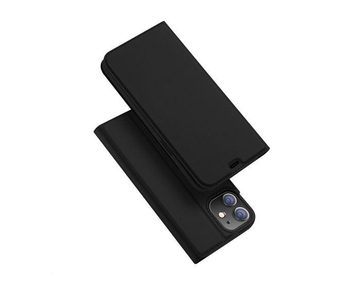 DUX DUCIS SkinPro Wallet Case Θήκη Πορτοφόλι με Stand - Black (iPhone 12 / 12 Pro)