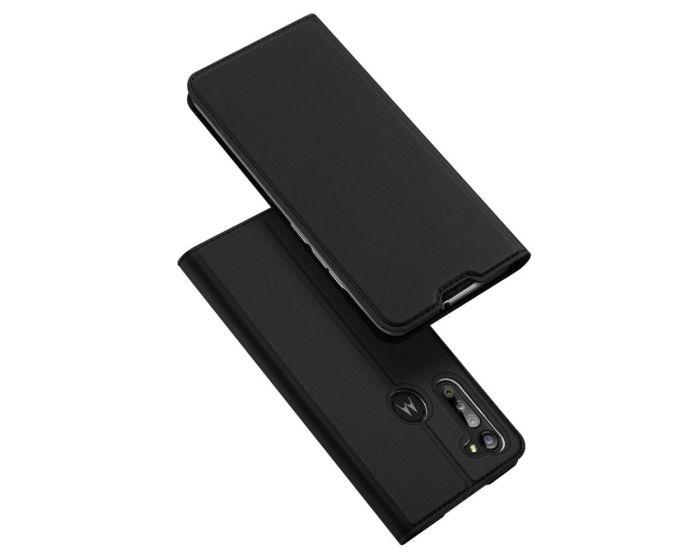DUX DUCIS SkinPro Wallet Case Θήκη Πορτοφόλι με Stand - Black (Motorola Moto G8 Power)