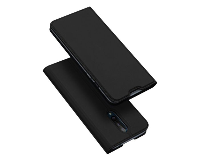 DUX DUCIS SkinPro Wallet Case Θήκη Πορτοφόλι με Stand - Black (OnePlus 8)