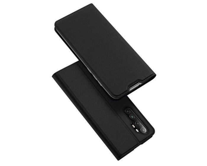 DUX DUCIS SkinPro Wallet Case Θήκη Πορτοφόλι με Stand - Black (Xiaomi Mi Note 10 Lite)