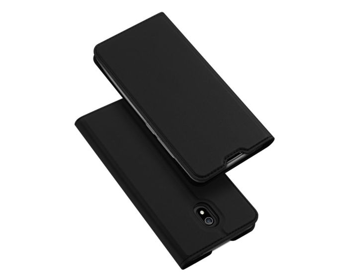 DUX DUCIS SkinPro Wallet Case Θήκη Πορτοφόλι με Stand - Black (Xiaomi Redmi 8A)