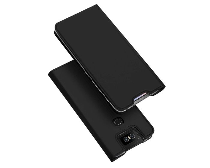 DUX DUCIS SkinPro Wallet Case Θήκη Πορτοφόλι με Stand - Black (Asus Zenfone 6)