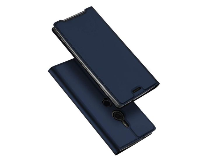 DUX DUCIS SkinPro Wallet Case Θήκη Πορτοφόλι με Stand - Navy Blue (Sony Xperia XZ3)