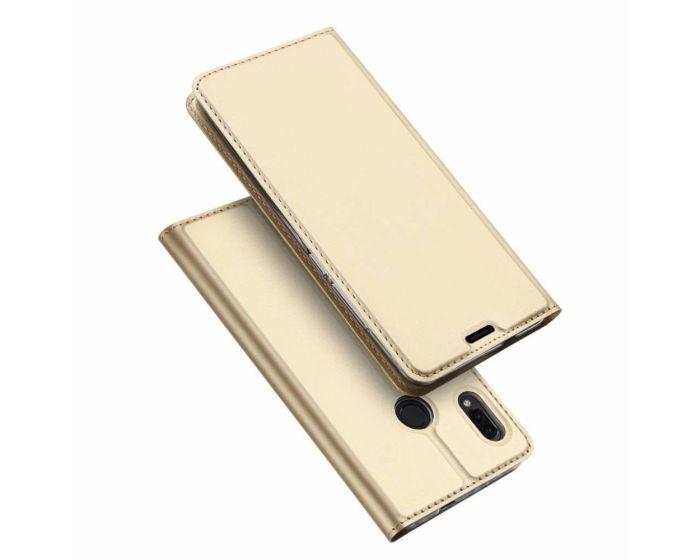 DUX DUCIS SkinPro Wallet Case Θήκη Πορτοφόλι με Stand - Gold (Asus Zenfone Max M1)