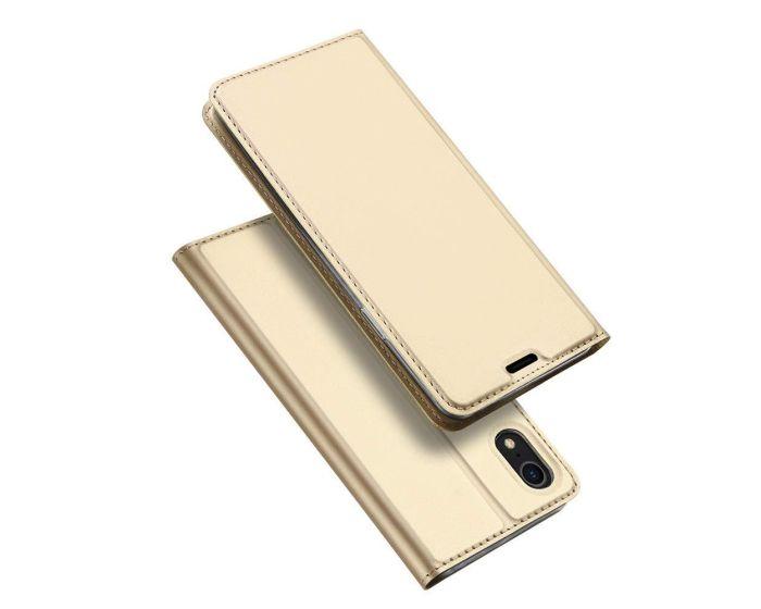 DUX DUCIS SkinPro Wallet Case Θήκη Πορτοφόλι με Stand - Gold (iPhone XR)