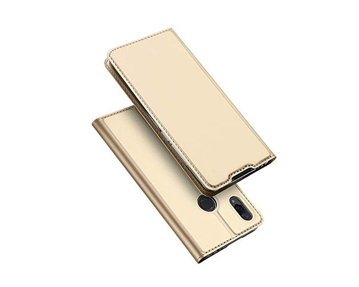 DUX DUCIS SkinPro Wallet Case Θήκη Πορτοφόλι με Stand - Gold (Xiaomi Redmi 7)