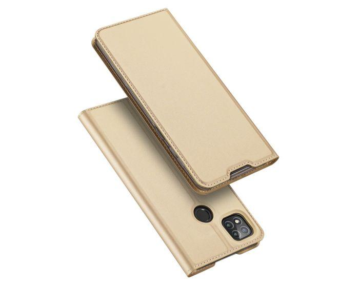 DUX DUCIS SkinPro Wallet Case Θήκη Πορτοφόλι με Stand - Gold (Xiaomi Redmi 9C)