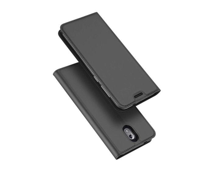 DUX DUCIS SkinPro Wallet Case Θήκη Πορτοφόλι με Stand - Gray (Nokia 3.1 2018)