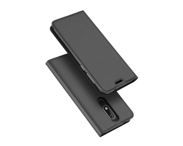 DUX DUCIS SkinPro Wallet Case Θήκη Πορτοφόλι με Stand - Gray (Nokia 5.1 2018)