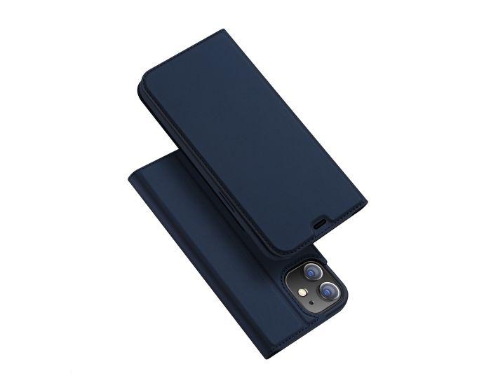 DUX DUCIS SkinPro Wallet Case Θήκη Πορτοφόλι με Stand - Navy Blue (iPhone 12 / 12 Pro)
