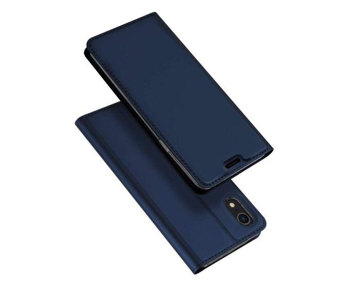DUX DUCIS SkinPro Wallet Case Θήκη Πορτοφόλι με Stand - Navy Blue (iPhone XR)