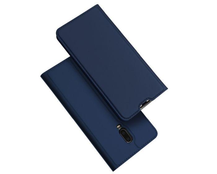 DUX DUCIS SkinPro Wallet Case Θήκη Πορτοφόλι με Stand - Navy Blue (OnePlus 6T)