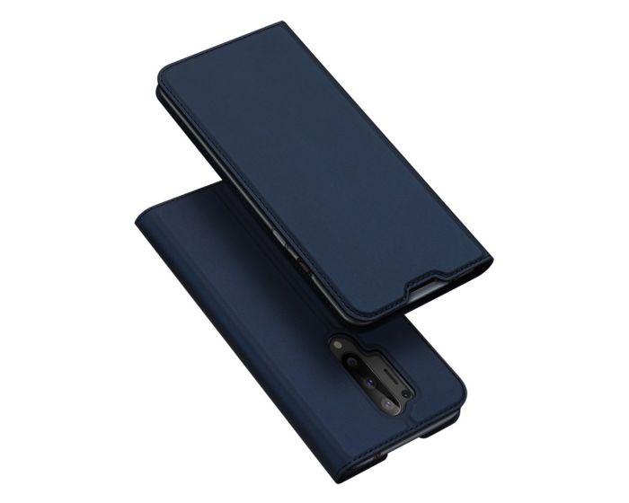 DUX DUCIS SkinPro Wallet Case Θήκη Πορτοφόλι με Stand - Navy Blue (OnePlus 8 Pro)