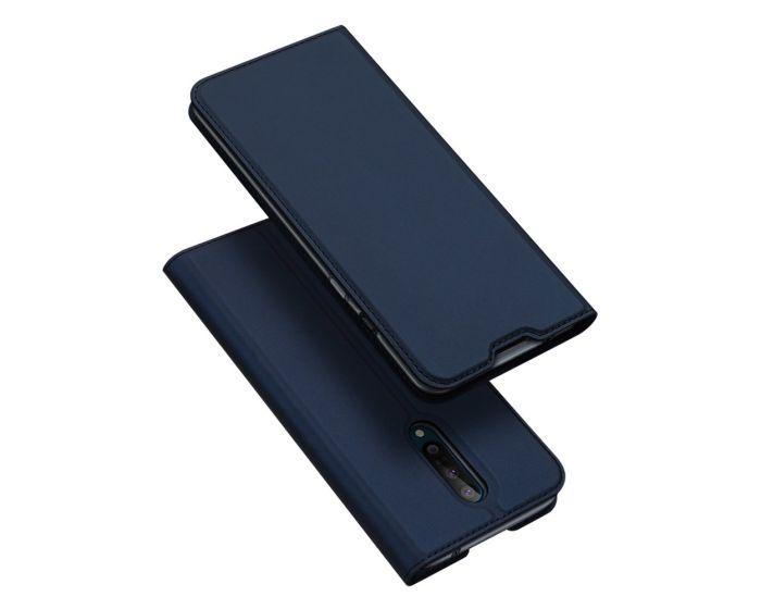 DUX DUCIS SkinPro Wallet Case Θήκη Πορτοφόλι με Stand - Navy Blue (OnePlus 8)