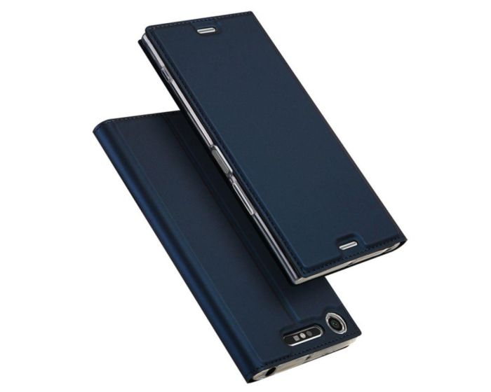 DUX DUCIS SkinPro Wallet Case Θήκη Πορτοφόλι με Stand - Navy Blue (Sony Xperia XZ1 Compact)