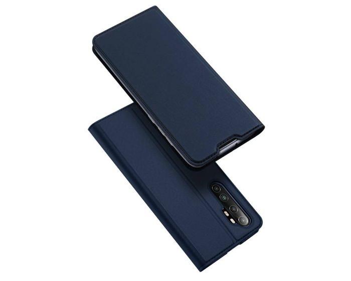 DUX DUCIS SkinPro Wallet Case Θήκη Πορτοφόλι με Stand - Navy Blue (Xiaomi Mi Note 10 Lite)