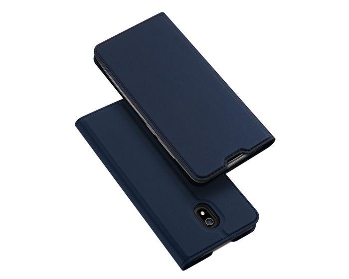 DUX DUCIS SkinPro Wallet Case Θήκη Πορτοφόλι με Stand - Navy Blue (Xiaomi Redmi 8A)