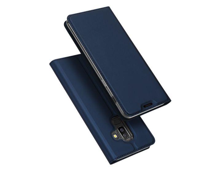 DUX DUCIS SkinPro Wallet Case Θήκη Πορτοφόλι με Stand - Navy Blue (Samsung Galaxy J8 2018)