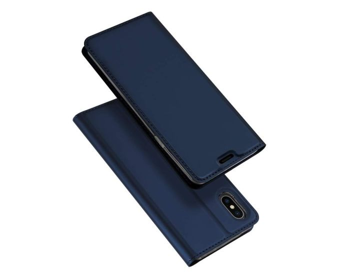 DUX DUCIS SkinPro Wallet Case Θήκη Πορτοφόλι με Stand - Navy Blue (iPhone Xs Max)