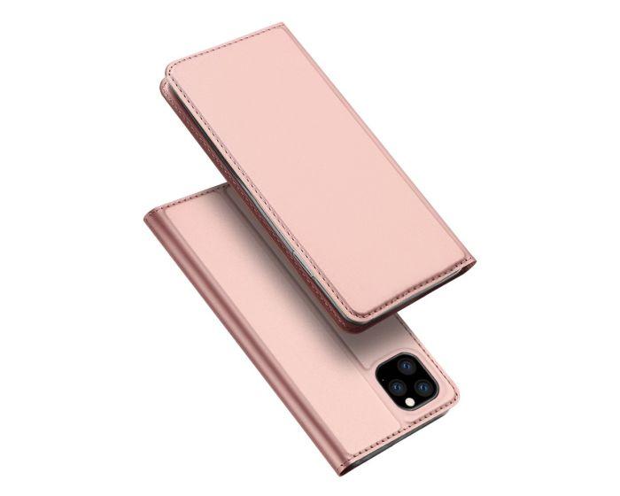 DUX DUCIS SkinPro Wallet Case Θήκη Πορτοφόλι με Stand - Rose Gold (Huawei Y5P / Honor 9s)
