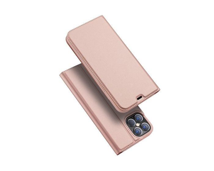 DUX DUCIS SkinPro Wallet Case Θήκη Πορτοφόλι με Stand - Rose Gold (iPhone 12 Pro Max)