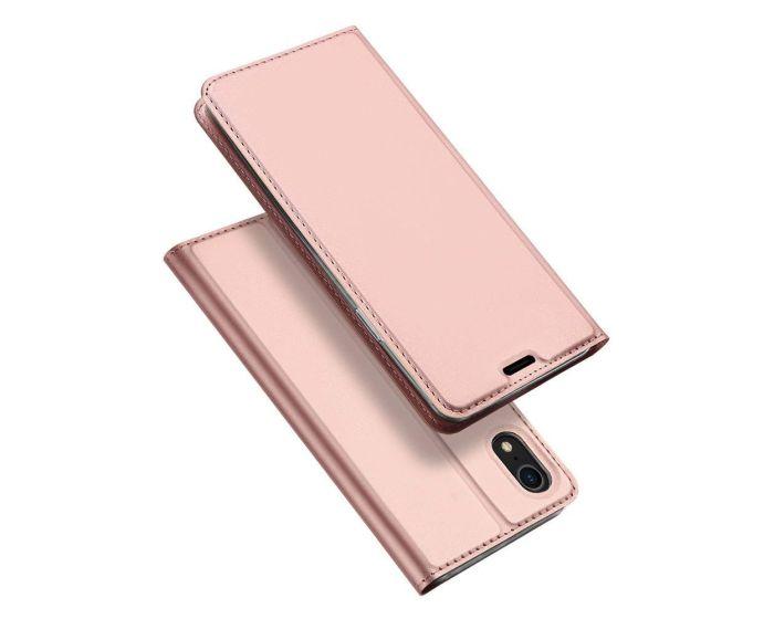DUX DUCIS SkinPro Wallet Case Θήκη Πορτοφόλι με Stand - Rose Gold (iPhone XR)