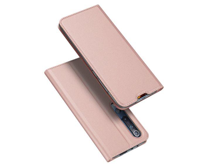 DUX DUCIS SkinPro Wallet Case Θήκη Πορτοφόλι με Stand - Rose Gold (Xiaomi Mi 10 / Mi 10 Pro)