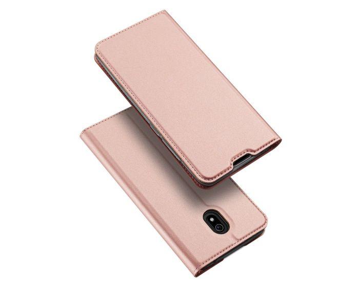 DUX DUCIS SkinPro Wallet Case Θήκη Πορτοφόλι με Stand - Rose Gold (Xiaomi Redmi 8A)