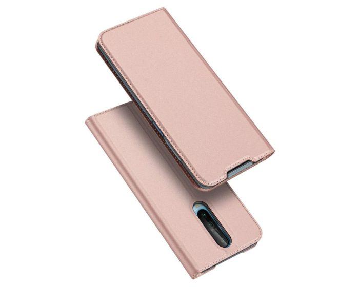 DUX DUCIS SkinPro Wallet Case Θήκη Πορτοφόλι με Stand - Rose Gold (Xiaomi Redmi K30)