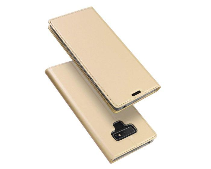 DUX DUCIS SkinPro Wallet Case Θήκη Πορτοφόλι με Δυνατότητα Stand - Gold (Samsung Galaxy Note 9)