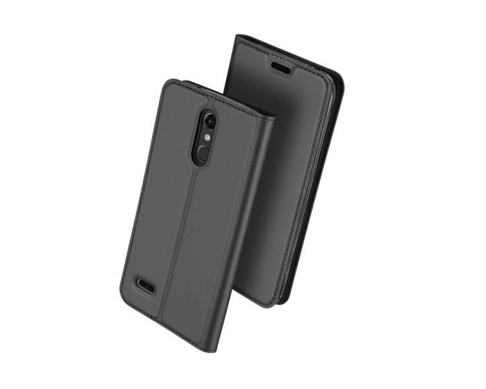 DUX DUCIS SkinPro Wallet Case Θήκη Πορτοφόλι με Δυνατότητα Stand - Grey (LG K10 2018)