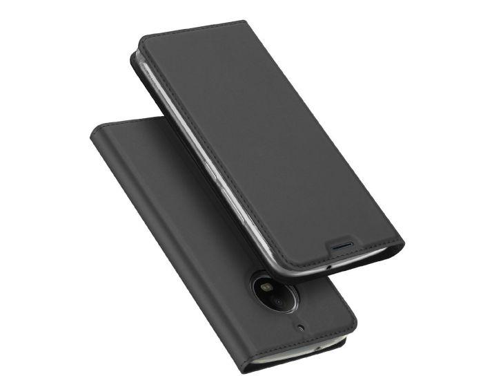 DUX DUCIS SkinPro Wallet Case Θήκη Πορτοφόλι με Δυνατότητα Stand - Gray (Motorola Moto G5s)