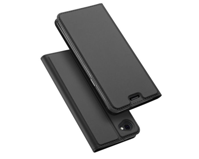 DUX DUCIS SkinPro Wallet Case Θήκη Πορτοφόλι με Δυνατότητα Stand - Grey (LG Q6)