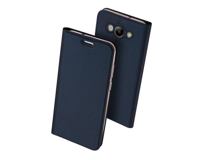 DUX DUCIS SkinPro Wallet Case Θήκη Πορτοφόλι με Δυνατότητα Stand - Navy Blue (Huawei Y3 2017)