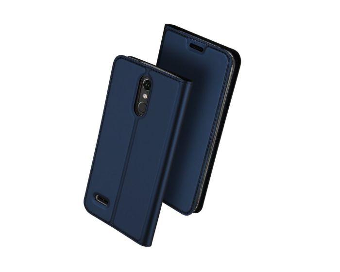 DUX DUCIS SkinPro Wallet Case Θήκη Πορτοφόλι με Δυνατότητα Stand - Navy Blue (LG K10 2018)