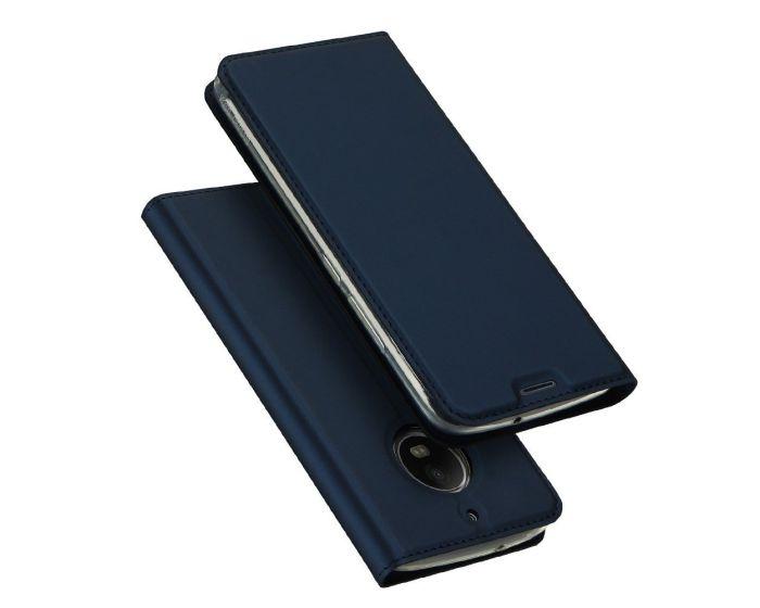 DUX DUCIS SkinPro Wallet Case Θήκη Πορτοφόλι με Δυνατότητα Stand - Navy Blue (Motorola Moto G5s)