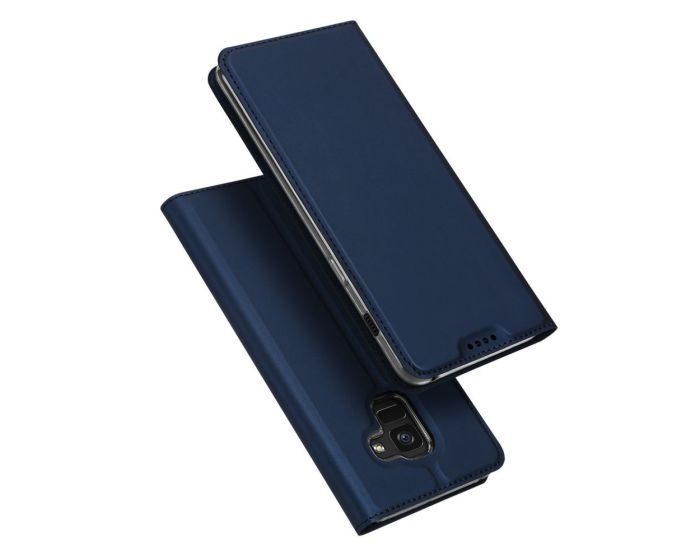 DUX DUCIS SkinPro Wallet Case Θήκη Πορτοφόλι με Stand - Navy Blue (Samsung Galaxy A8 Plus 2018)