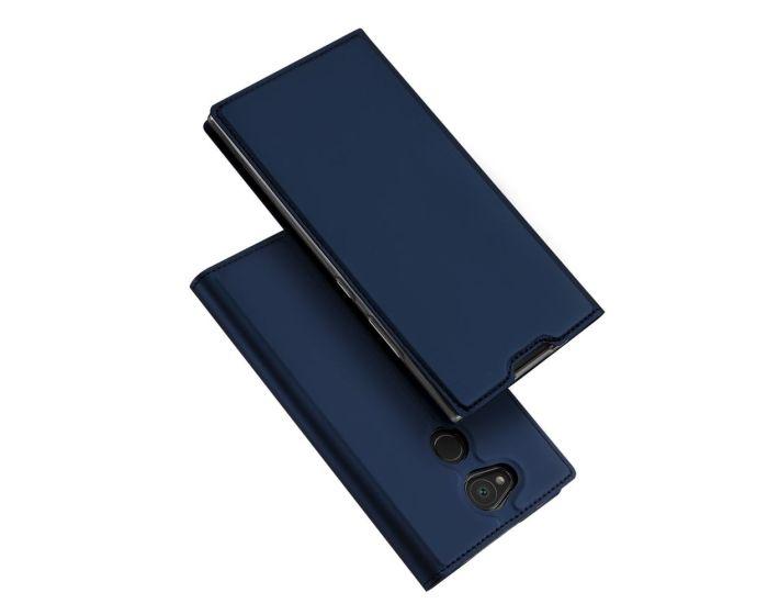 DUX DUCIS SkinPro Wallet Case Θήκη Πορτοφόλι με Stand - Navy Blue (Sony Xperia L2)