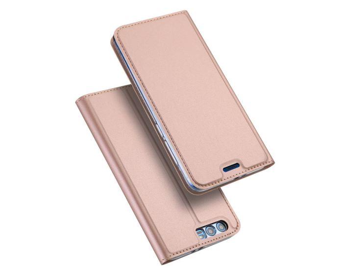 DUX DUCIS SkinPro Wallet Case Θήκη Πορτοφόλι με Δυνατότητα Stand - Ροζ Χρυσό (Huawei Honor 9)