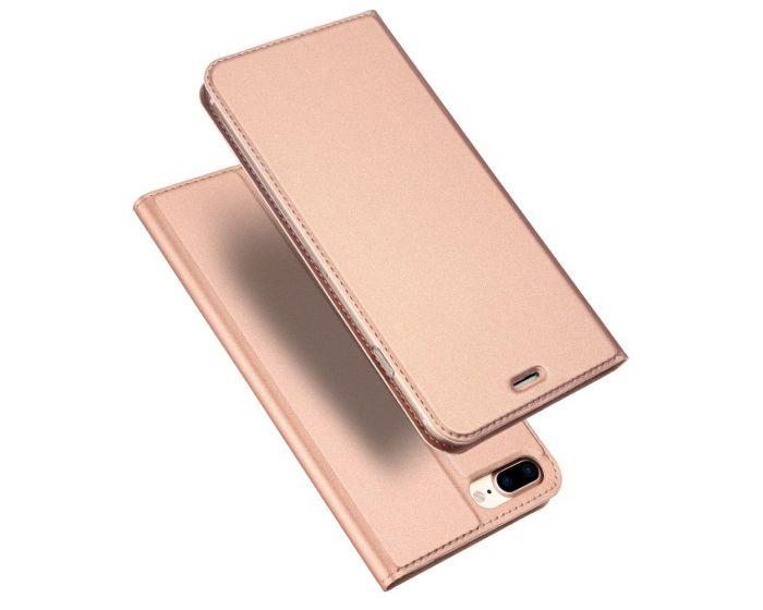 DUX DUCIS SkinPro Wallet Case Θήκη Πορτοφόλι με Δυνατότητα Stand - Rose Gold (iPhone 7 Plus / 8 Plus)