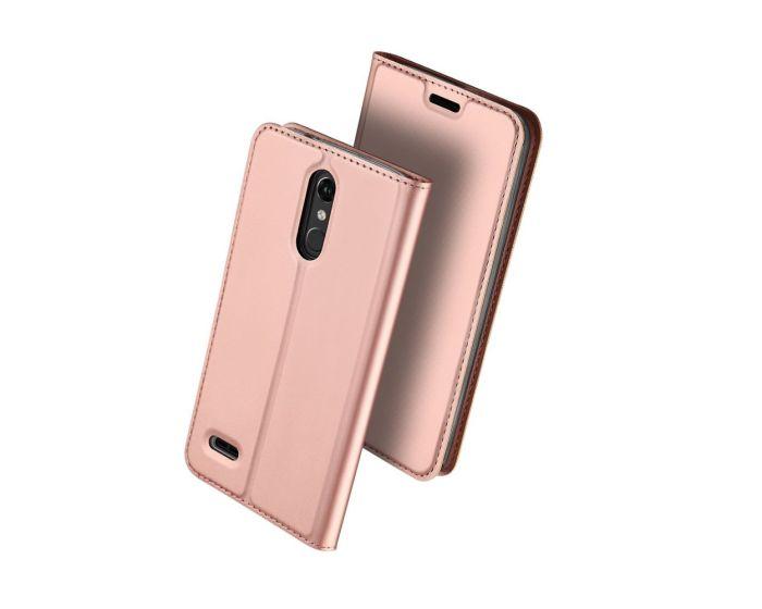 DUX DUCIS SkinPro Wallet Case Θήκη Πορτοφόλι με Δυνατότητα Stand - Rose Gold (LG K10 2018)