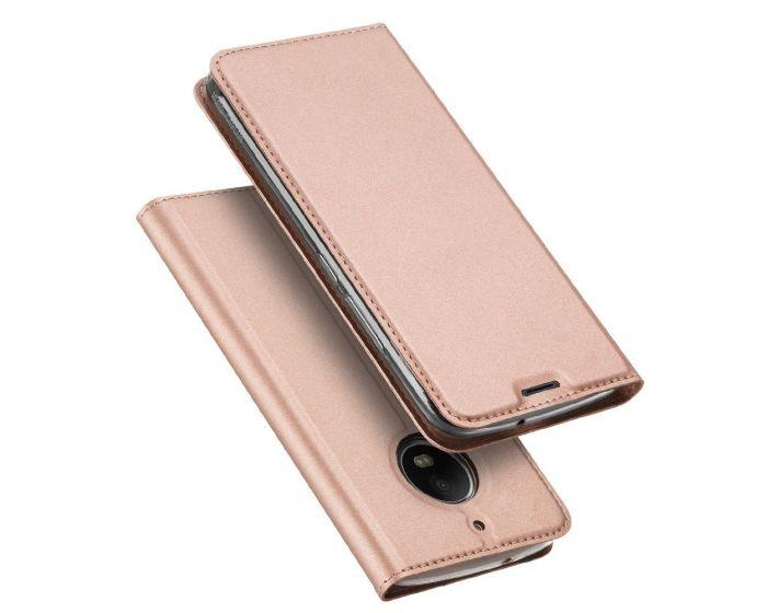 DUX DUCIS SkinPro Wallet Case Θήκη Πορτοφόλι με Δυνατότητα Stand - Rose Gold (Motorola Moto G5s)