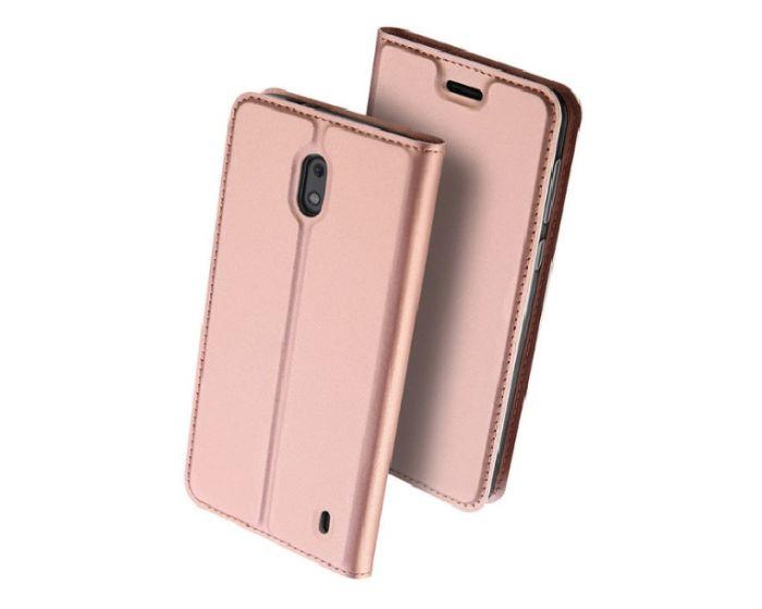 DUX DUCIS SkinPro Wallet Case Θήκη Πορτοφόλι με Δυνατότητα Stand - Rose Gold (Nokia 2)