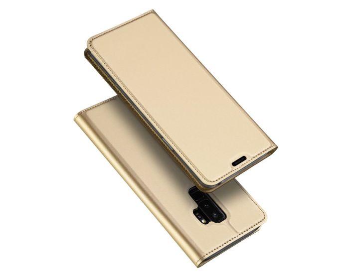 DUX DUCIS SkinPro Wallet Case Θήκη Πορτοφόλι με Stand - Gold (Samsung Galaxy S9 Plus)