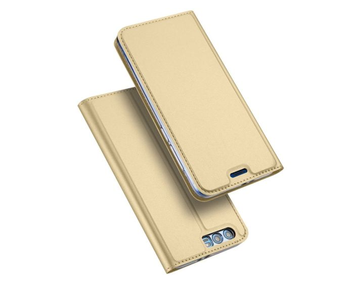 DUX DUCIS SkinPro Wallet Case Θήκη Πορτοφόλι με Δυνατότητα Stand - Χρυσό (Huawei Honor 9)