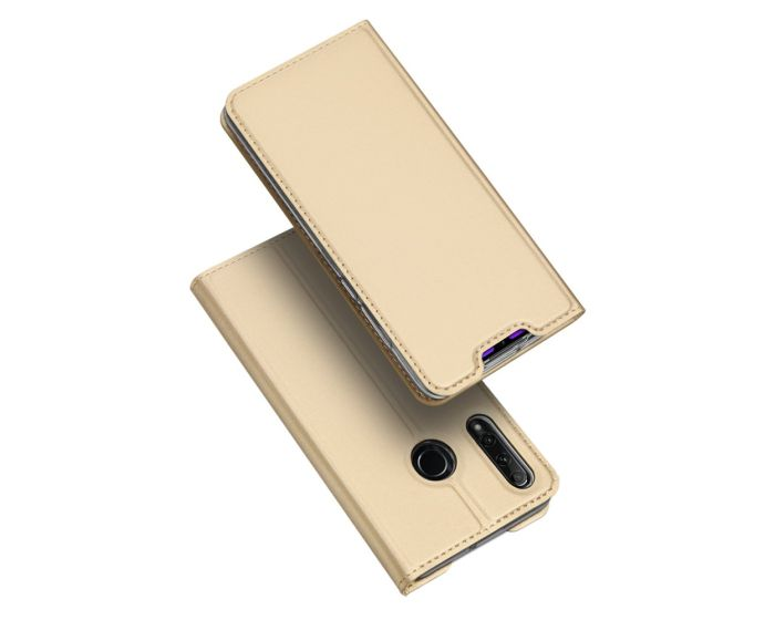 DUX DUCIS SkinPro Wallet Case Θήκη Πορτοφόλι με Stand - Gold (Honor 20 Lite)