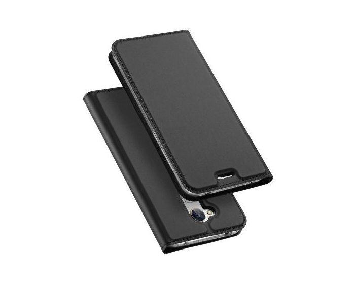 DUX DUCIS SkinPro Wallet Case Θήκη Πορτοφόλι με Stand - Gray (Huawei Honor 6A)